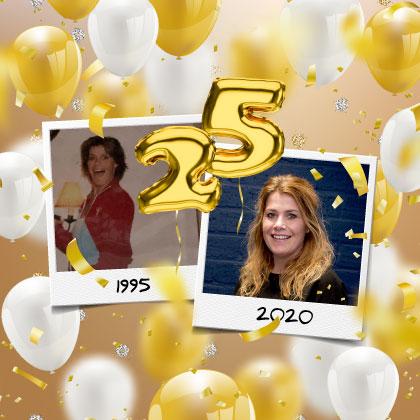 Chantal 25 jaar in dienst!